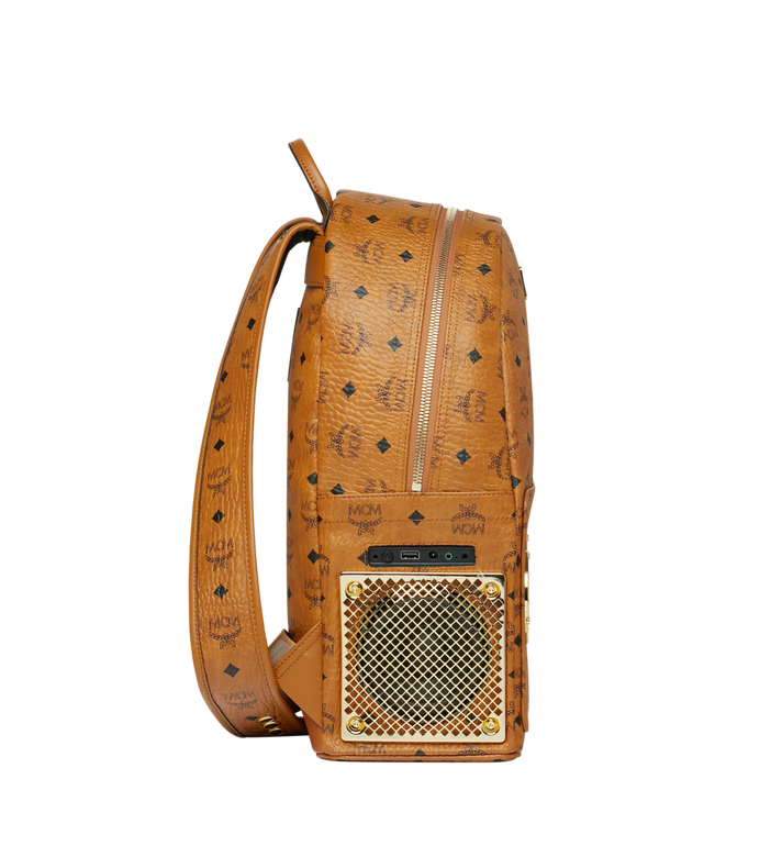 MCM MCM x WizPak Backpack in Visetos Cognac MMK8AOC88CO001 Alternate View 3