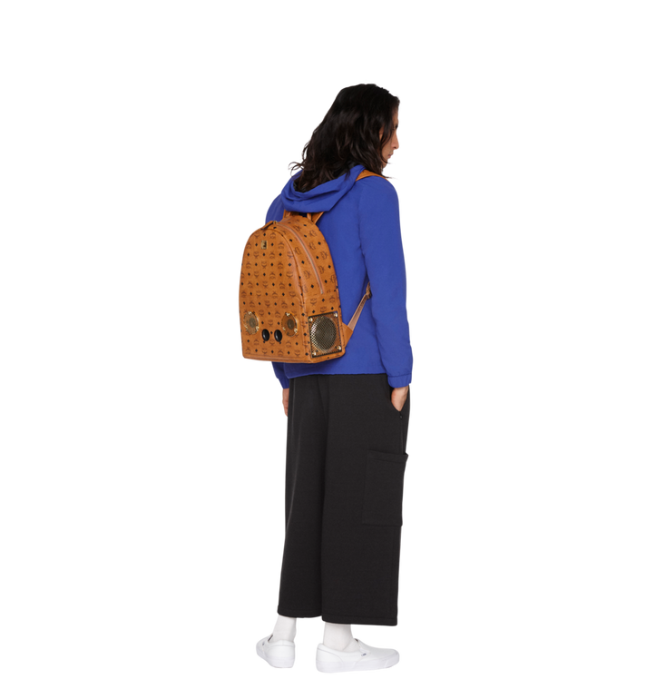 MCM MCM x WizPak Backpack in Visetos Cognac MMK8AOC88CO001 Alternate View 6