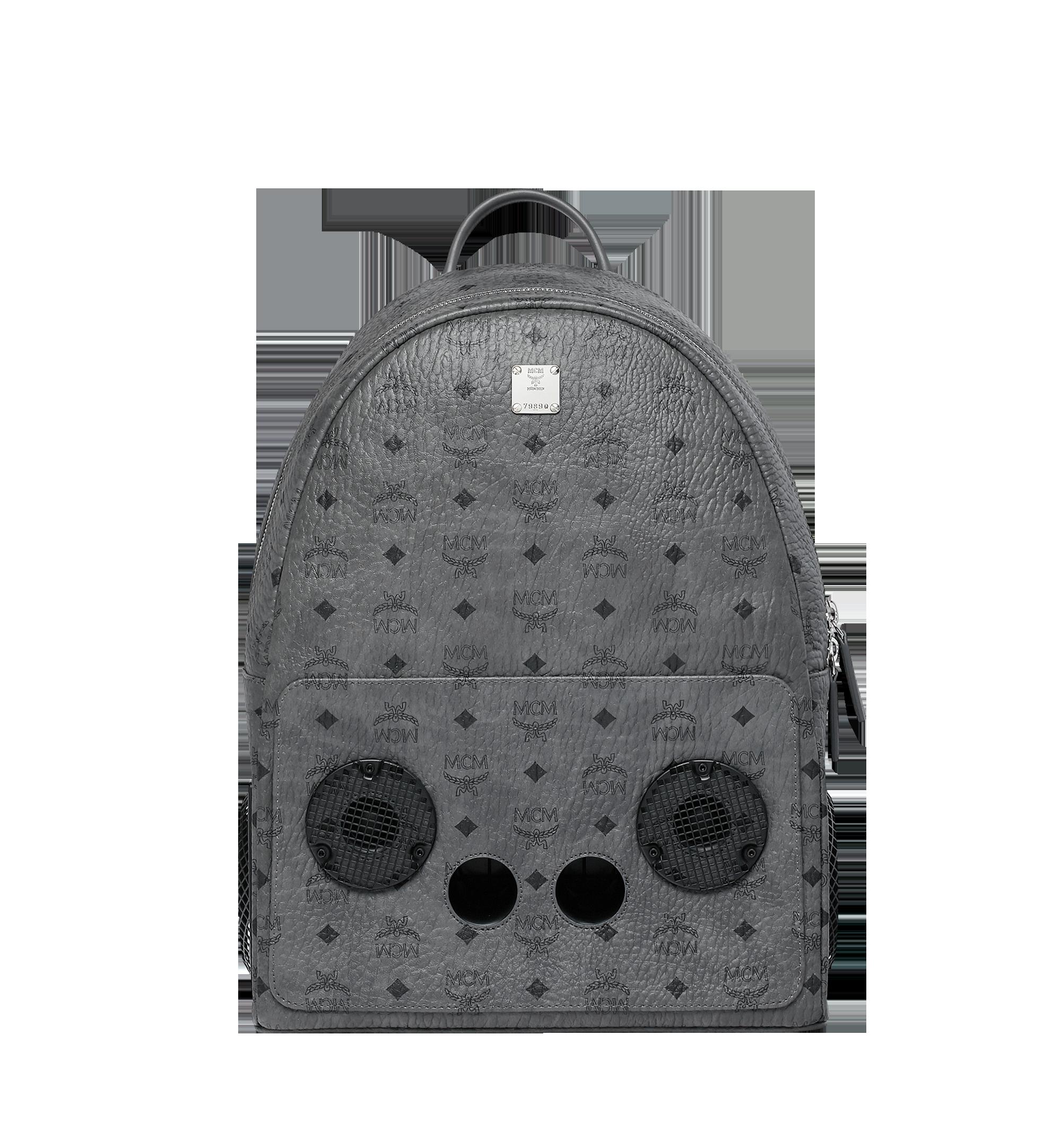 MCM MCM x WizPak Backpack in Visetos Grey MMK8AOC88EP001 Alternate View 1