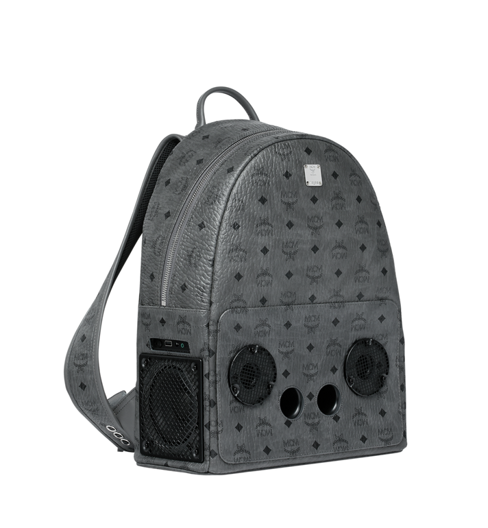 MCM MCM x WizPak Backpack in Visetos Grey MMK8AOC88EP001 Alternate View 2