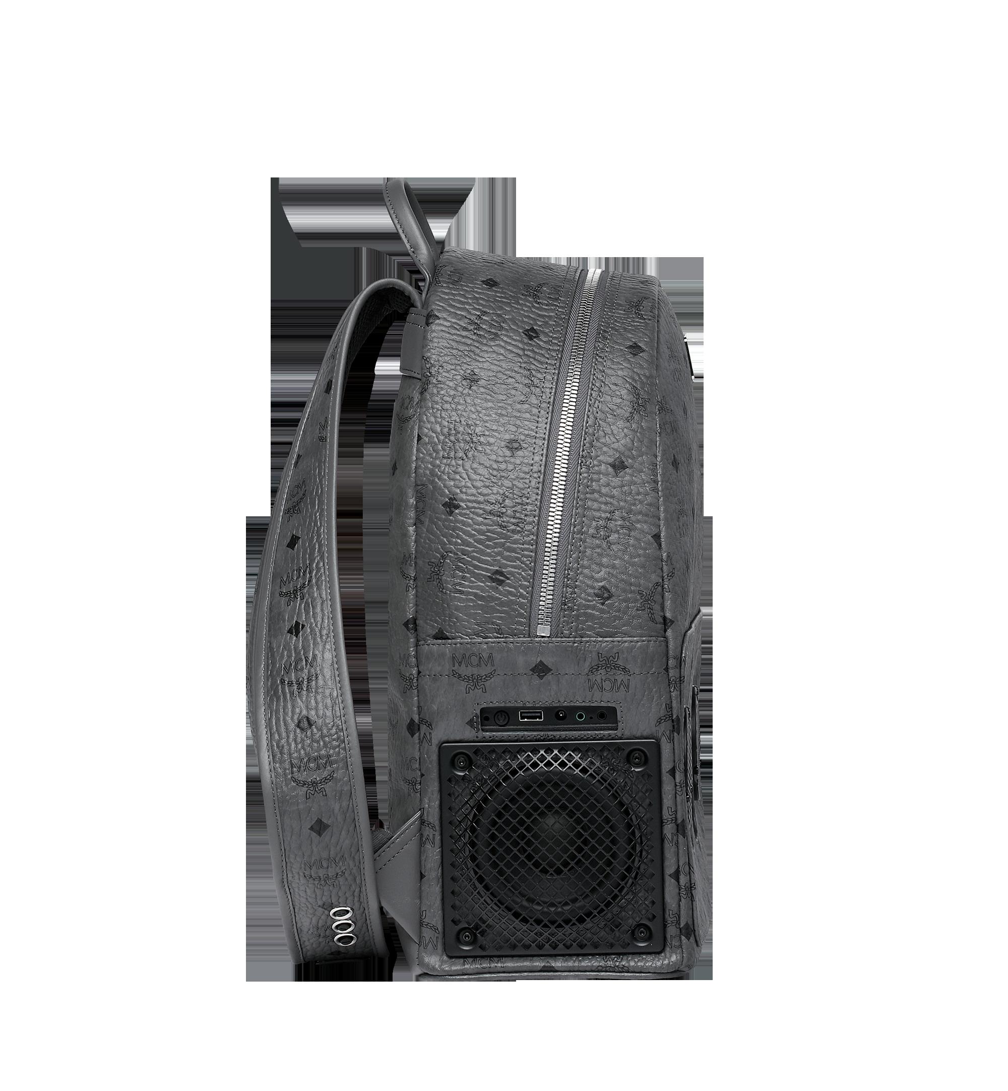 MCM MCM x WizPak Backpack in Visetos Grey MMK8AOC88EP001 Alternate View 3