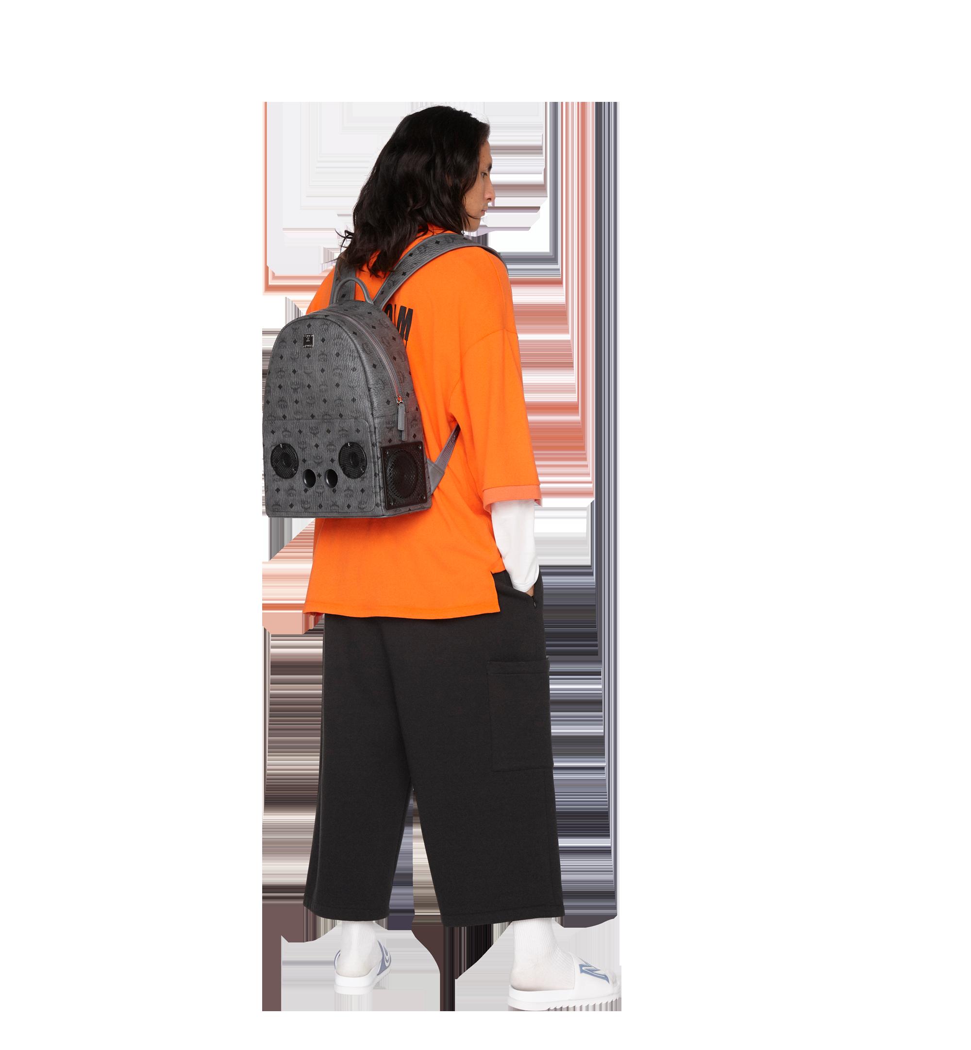 MCM MCM x WizPak Backpack in Visetos Grey MMK8AOC88EP001 Alternate View 6