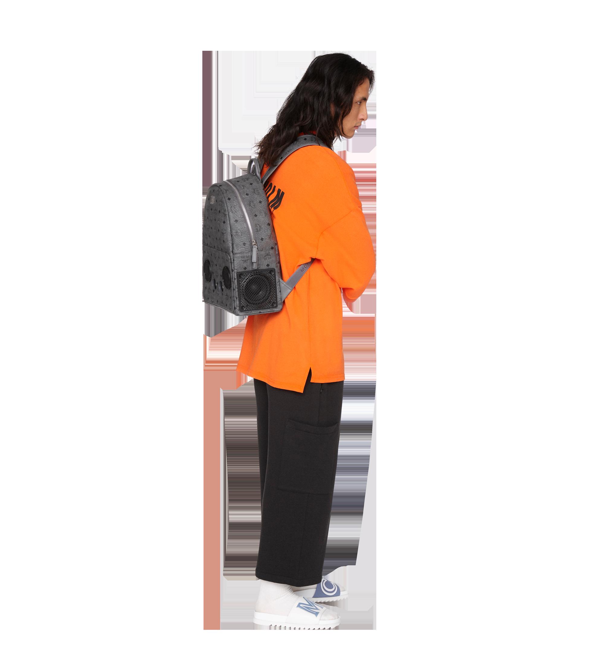 MCM MCM x WizPak Backpack in Visetos Grey MMK8AOC88EP001 Alternate View 7