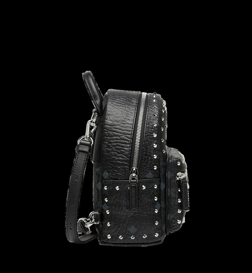 MCM Stark Bebe Boo Backpack in Studded Outline Visetos Black MMK8AVE04BK001 Alternate View 2