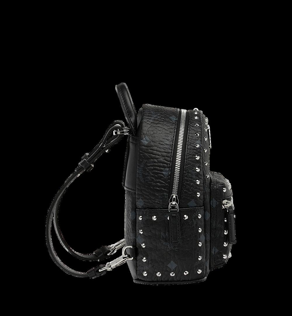 MCM Stark Bebe Boo Backpack in Studded Outline Visetos Black MMK8AVE04BK001 Alternate View 3