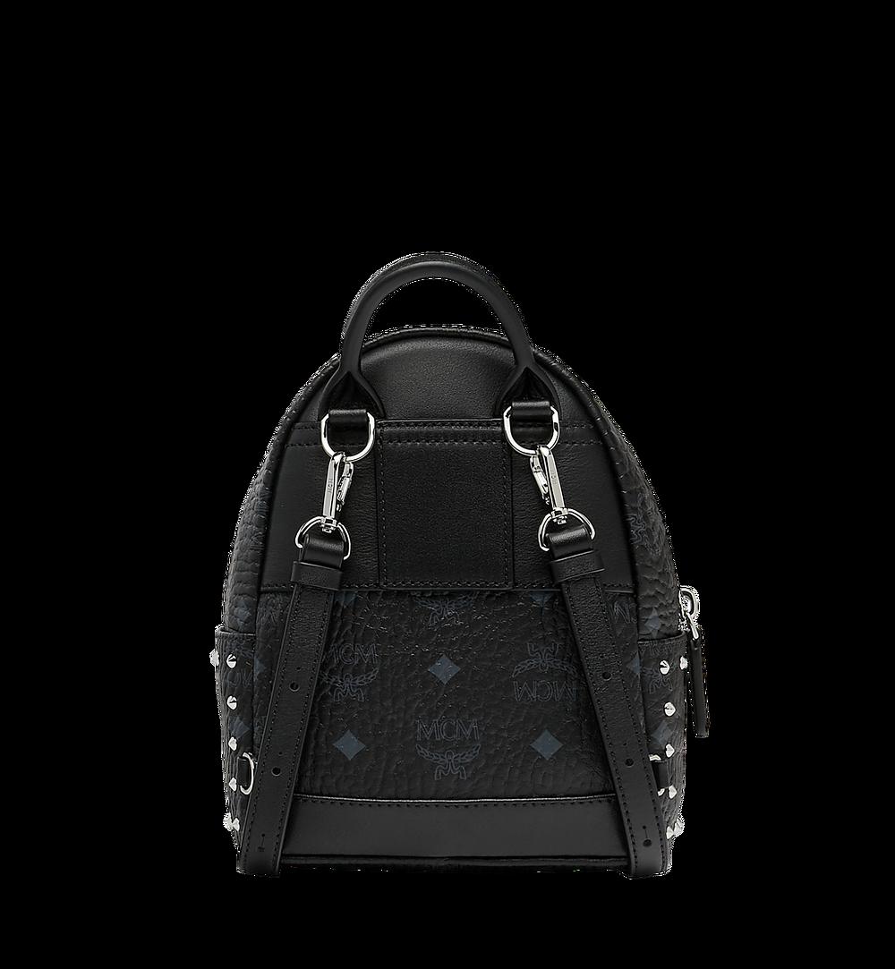 MCM Stark Bebe Boo Backpack in Studded Outline Visetos Black MMK8AVE04BK001 Alternate View 4