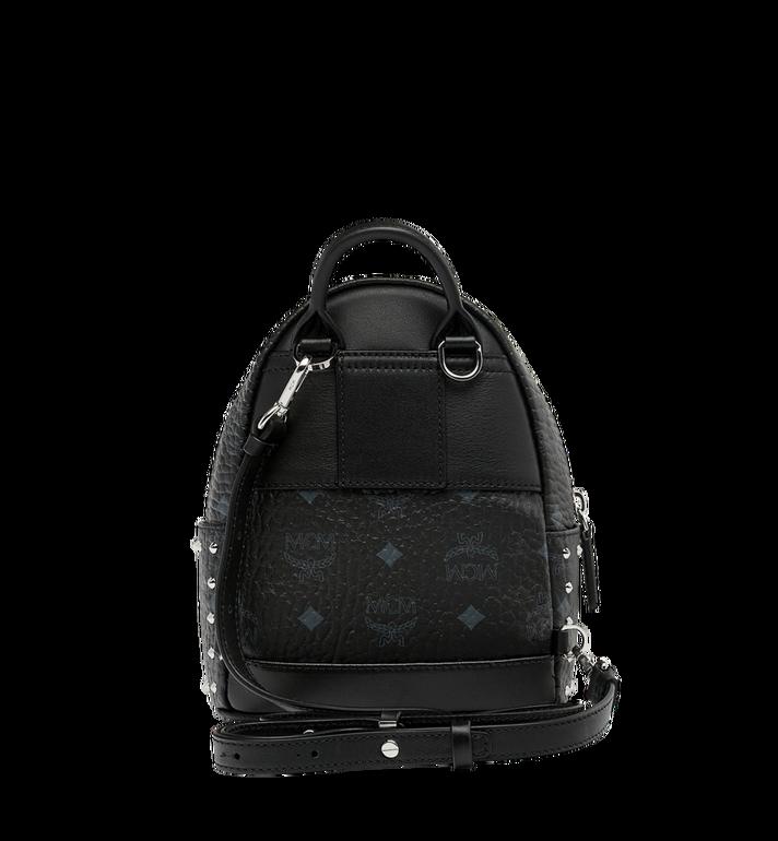 MCM Stark Bebe Boo Backpack in Studded Outline Visetos Black MMK8AVE04BK001 Alternate View 6