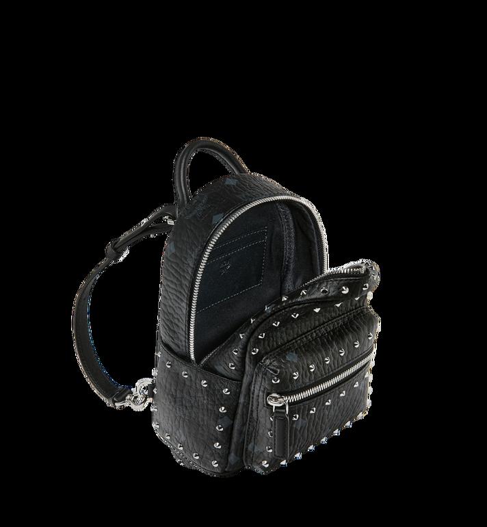 MCM Stark Bebe Boo Backpack in Studded Outline Visetos Black MMK8AVE04BK001 Alternate View 7