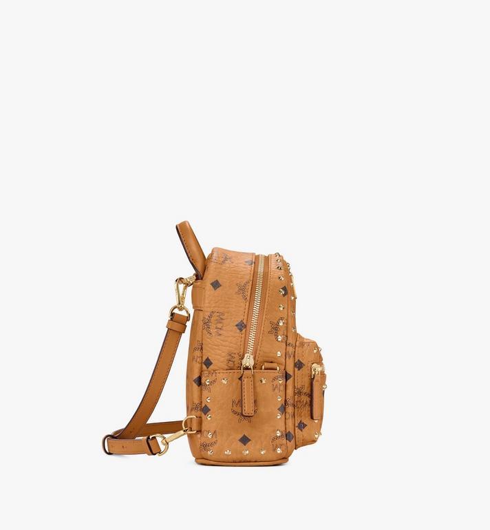 MCM Stark Bebe Boo Backpack in Studded Outline Visetos  MMK8AVE04CO001 Alternate View 2