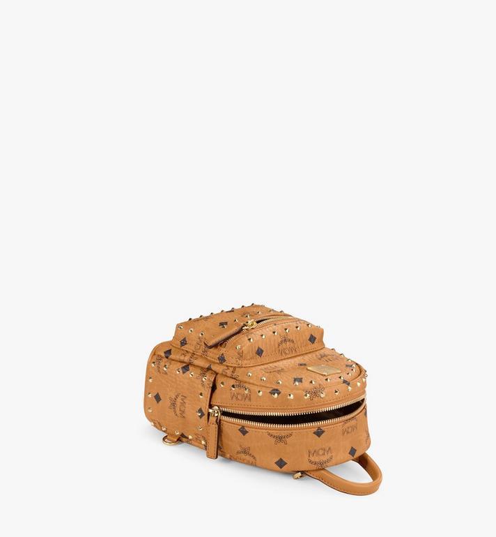 MCM Stark Bebe Boo Backpack in Studded Outline Visetos  MMK8AVE04CO001 Alternate View 3