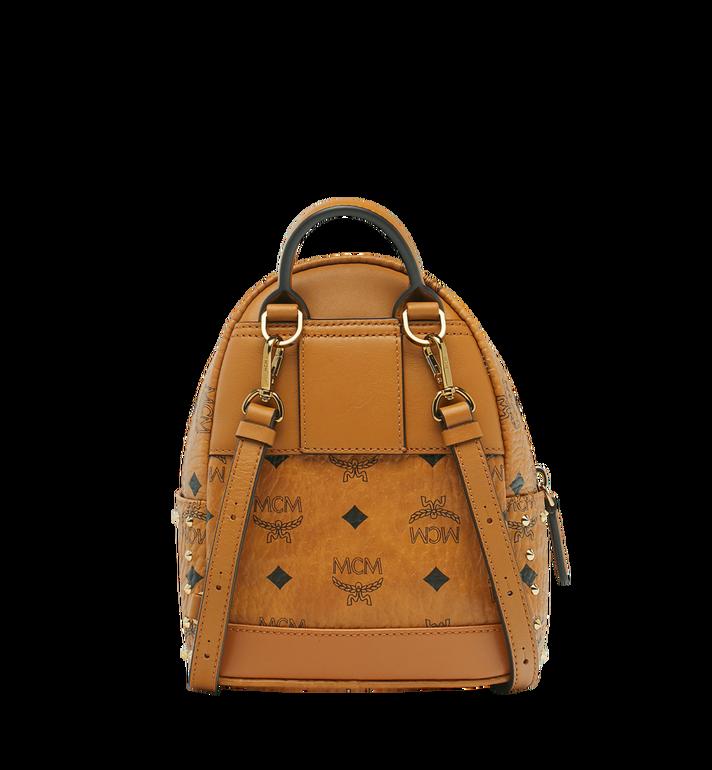 MCM Stark Bebe Boo Backpack in Studded Outline Visetos  MMK8AVE04CO001 Alternate View 5