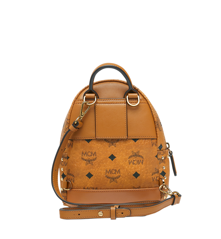 MCM Stark Bebe Boo Backpack in Studded Outline Visetos  MMK8AVE04CO001 Alternate View 6