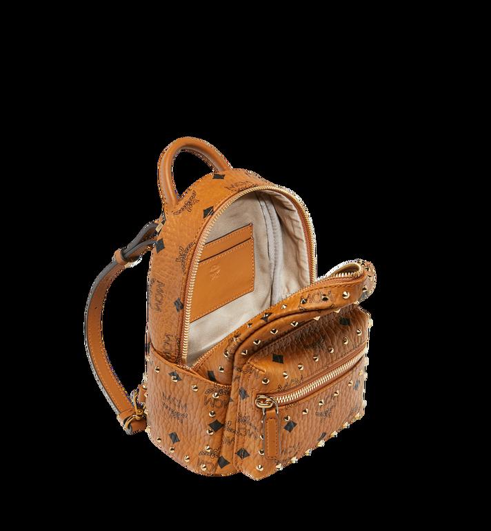 MCM Stark Bebe Boo Backpack in Studded Outline Visetos Cognac MMK8AVE04CO001 Alternate View 7