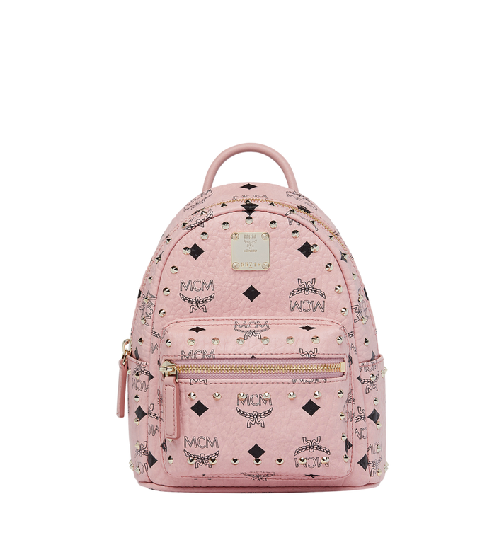 MCM Stark Bebe Boo Backpack in Studded Outline Visetos Alternate View