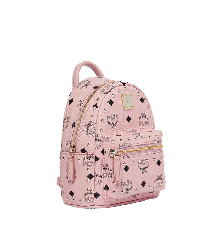 MCM Stark Bebe Boo Backpack in Studded Outline Visetos Alternate View 2