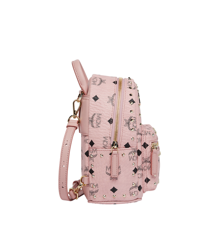 MCM Stark Bebe Boo Backpack in Studded Outline Visetos Alternate View 3
