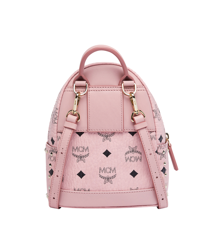 MCM Stark Bebe Boo Backpack in Studded Outline Visetos Alternate View 5