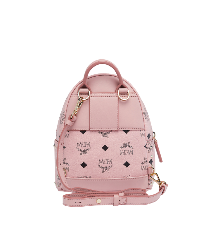 MCM Stark Bebe Boo Backpack in Studded Outline Visetos Alternate View 6