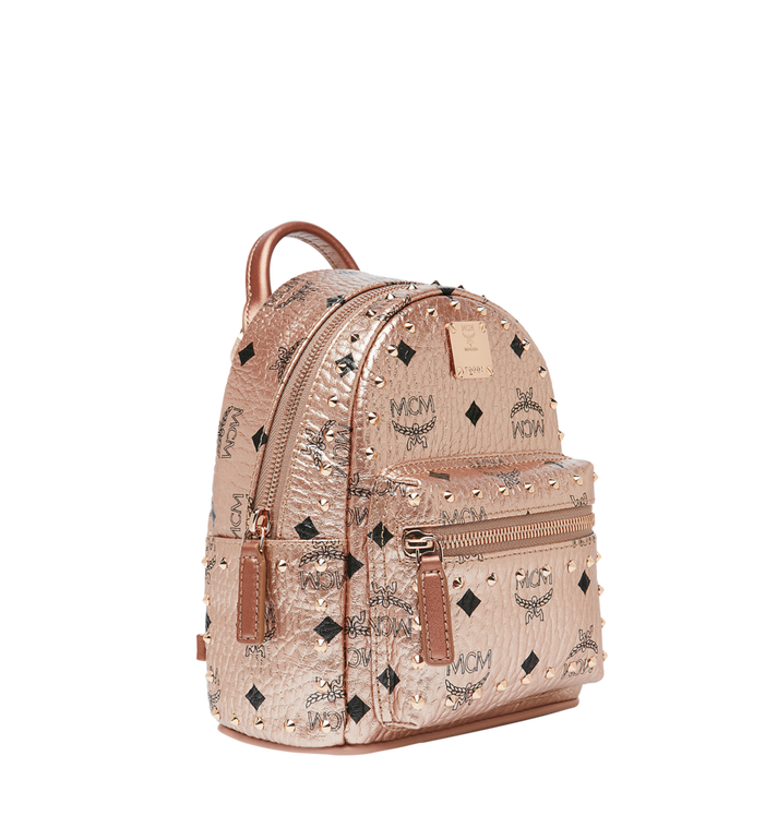 MCM Stark Bebe Boo Backpack in Studded Outline Visetos  MMK8AVE05TC001 Alternate View 2