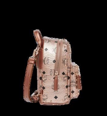 MCM Stark Bebe Boo Backpack in Studded Outline Visetos Alternate View 3