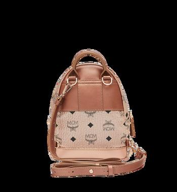 MCM Stark Bebe Boo Backpack in Studded Outline Visetos Alternate View 6