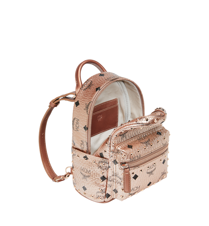 MCM Stark Bebe Boo Backpack in Studded Outline Visetos  MMK8AVE05TC001 Alternate View 7
