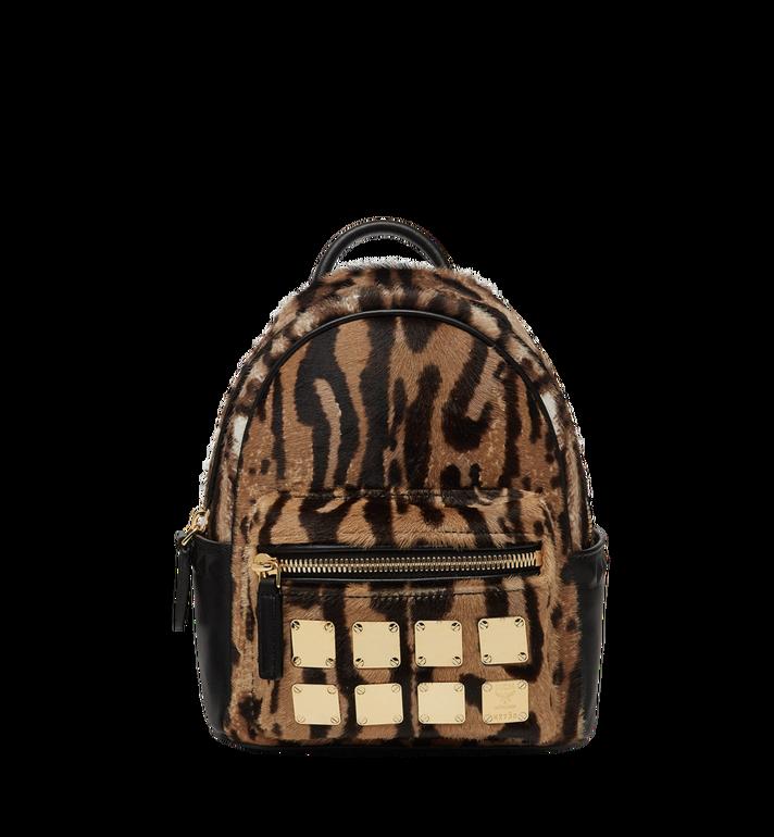MCM Stark Bebe Boo Backpack in Leopard Haircalf MMK8AVE07CO001 AlternateView