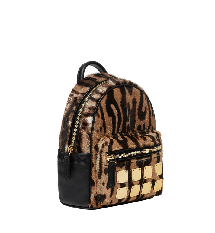 MCM Stark Bebe Boo Backpack in Leopard Haircalf MMK8AVE07CO001 AlternateView2