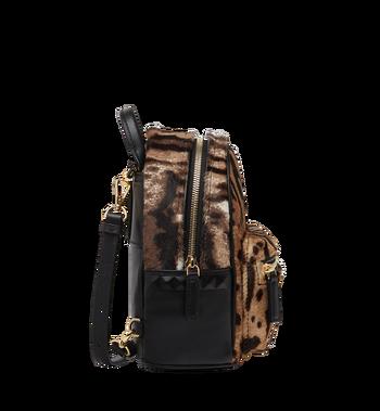 MCM Stark Bebe Boo Backpack in Leopard Haircalf MMK8AVE07CO001 AlternateView3