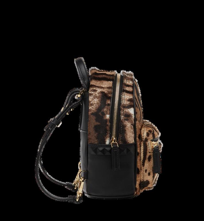 MCM Stark Bebe Boo Backpack in Leopard Haircalf MMK8AVE07CO001 AlternateView4