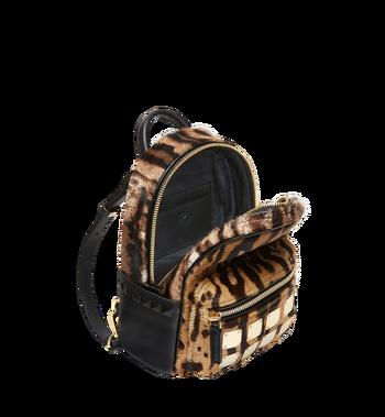 MCM Stark Bebe Boo Backpack in Leopard Haircalf MMK8AVE07CO001 AlternateView7
