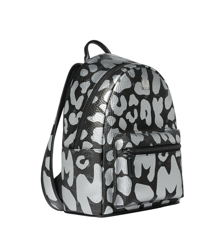 MCM Stark Backpack in MCM Leopard Print MMK8AVE13BK001 AlternateView2