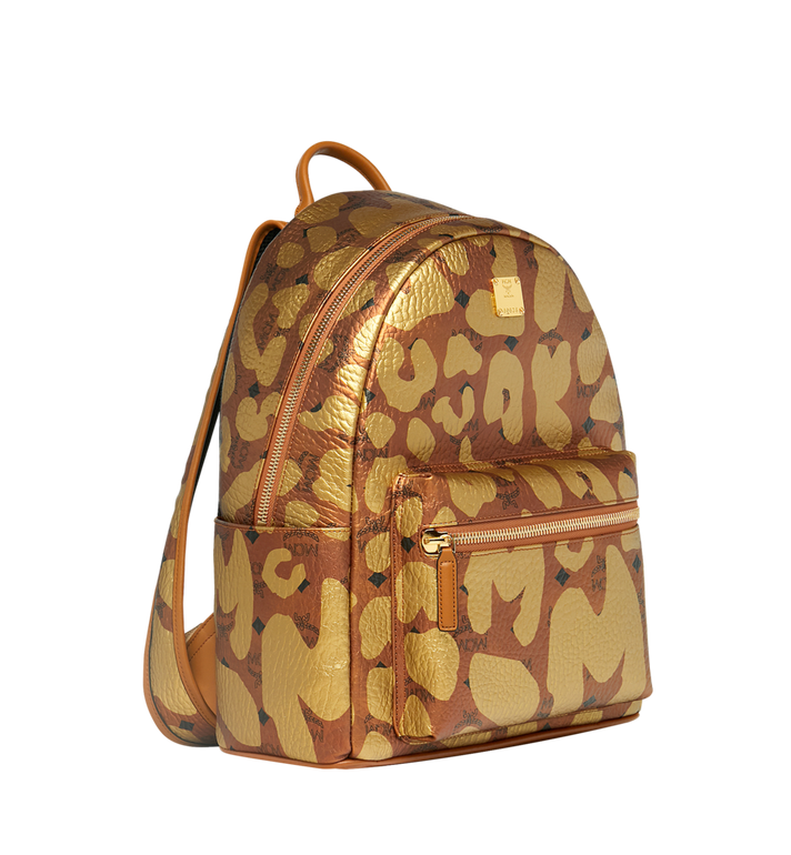 MCM Stark Backpack in MCM Leopard Print MMK8AVE13CO001 AlternateView2