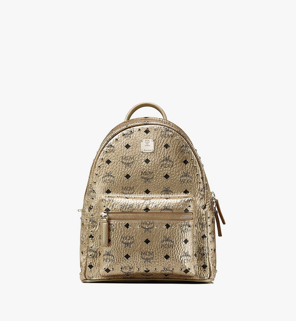 MCM Stark Backpack in Studded Visetos Gold MMK8AVE40T1001 Alternate View 1