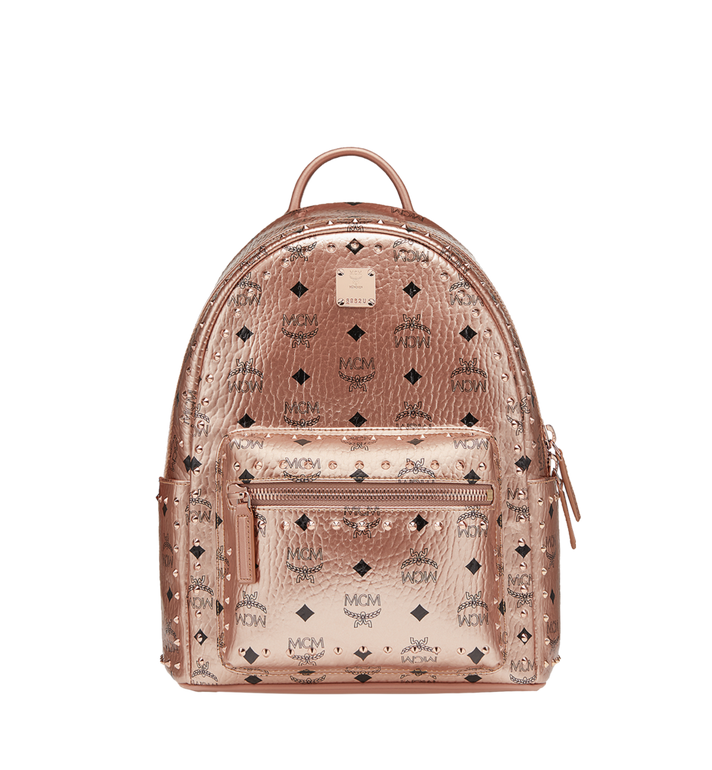 MCM Stark Backpack in Studded Outline Visetos Alternate View 1