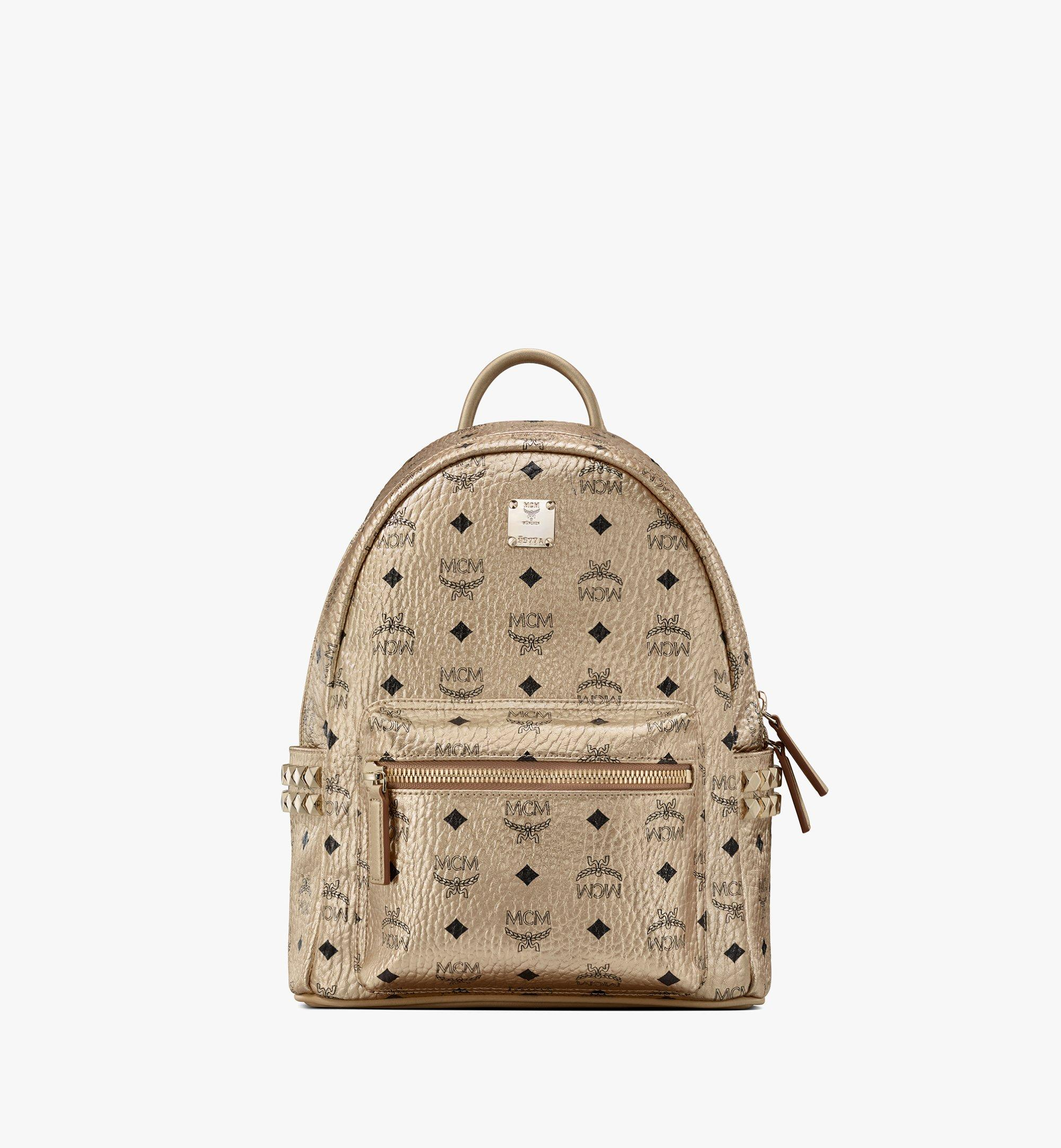 MCM Stark Side Studs Backpack in Visetos Gold MMK8AVE43T1001 Alternate View 1