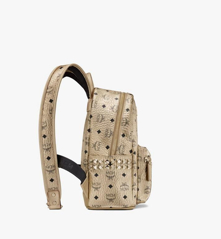 MCM Stark Side Studs Backpack in Visetos Gold MMK8AVE43T1001 Alternate View 2