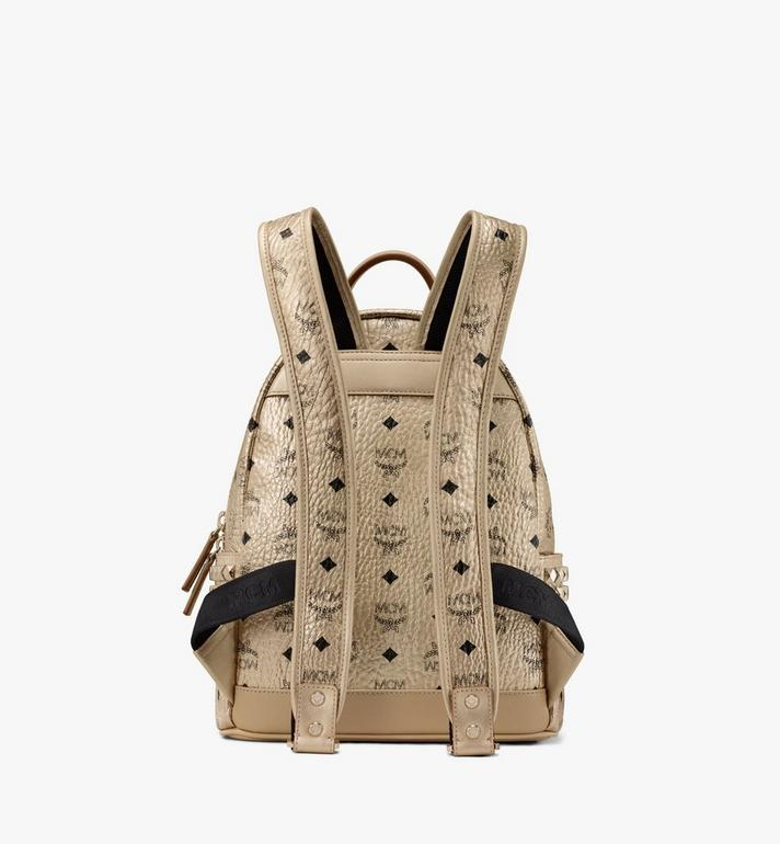 MCM Stark Side Studs Backpack in Visetos Gold MMK8AVE43T1001 Alternate View 3
