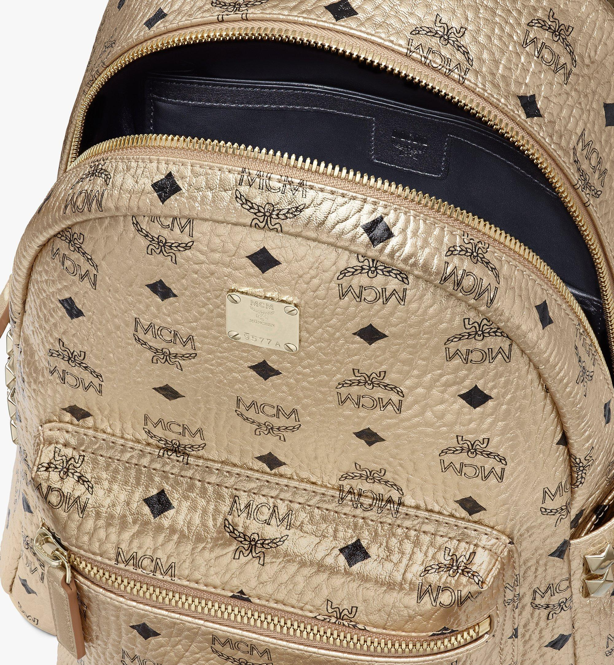 MCM Stark Side Studs Backpack in Visetos Gold MMK8AVE43T1001 Alternate View 4
