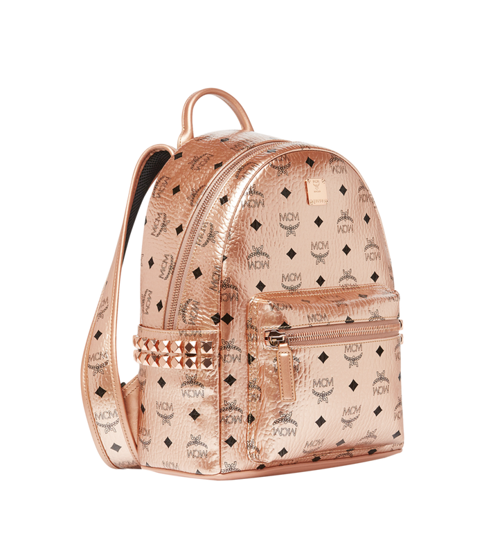 3810e7279e2 32 cm   12.5 in Stark Side Studs Backpack in Visetos Champagne Gold ...