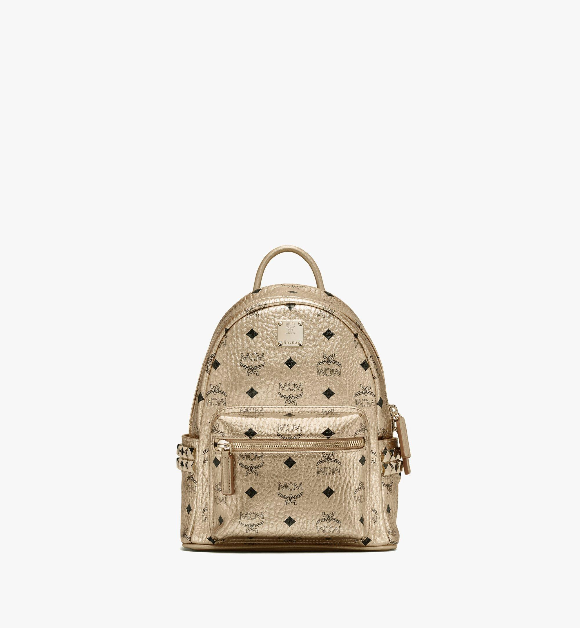 MCM Stark Rucksack in Visetos Gold MMK8AVE47T1001 Alternate View 1