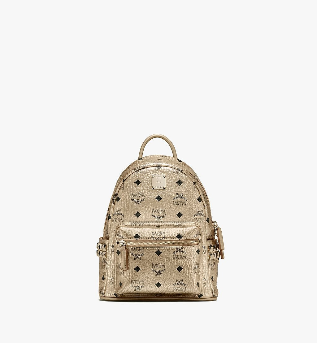 MCM Stark Side Studs Backpack in Visetos Gold MMK8AVE47T1001 Alternate View 1