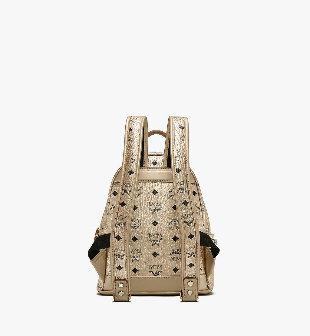MCM Stark Side Studs Backpack in Visetos Gold MMK8AVE47T1001 Alternate View 2