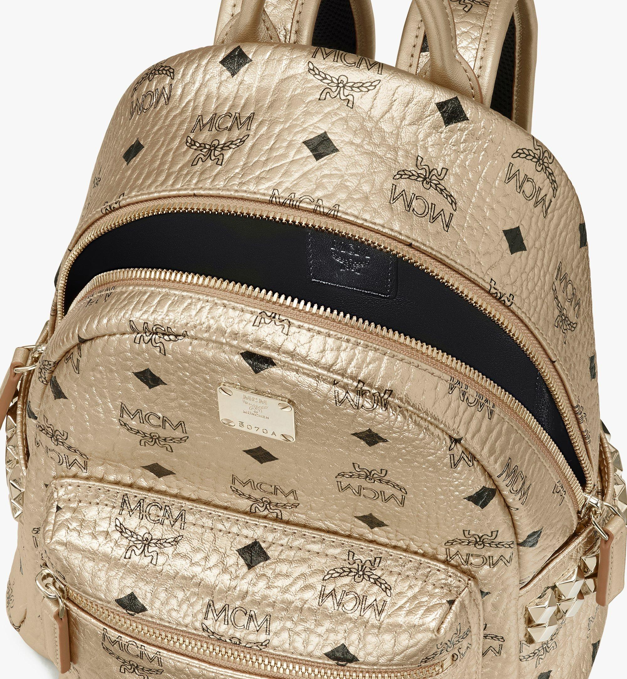 27 cm 10.5 in Stark Backpack in Visetos Berlin Gold | MCM® DE