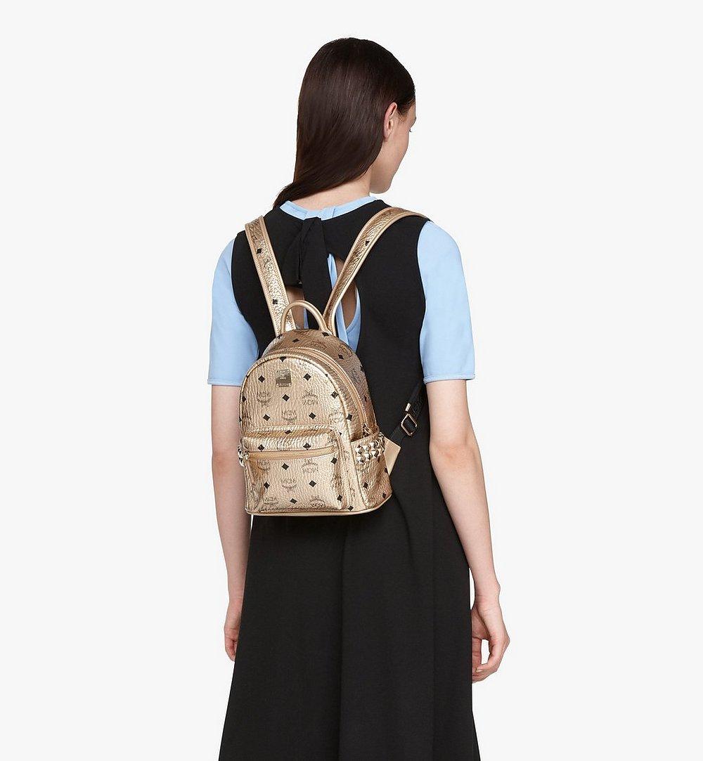 MCM Stark Backpack in Visetos Gold MMK8AVE47T1001 Alternate View 2