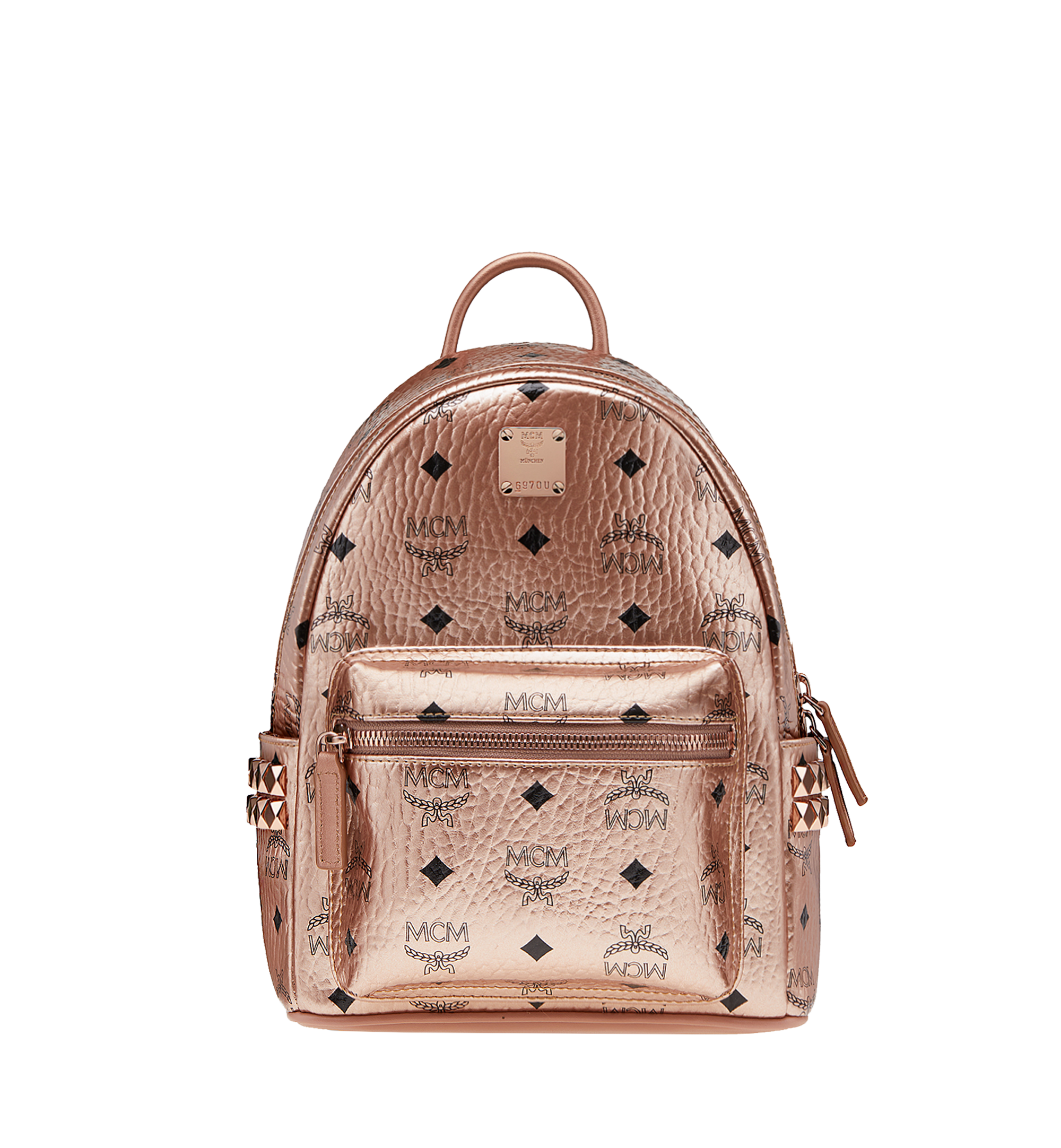 b803b6ed2d03 27 cm / 10.5 in Stark Side Studs Backpack in Visetos Champagne Gold ...