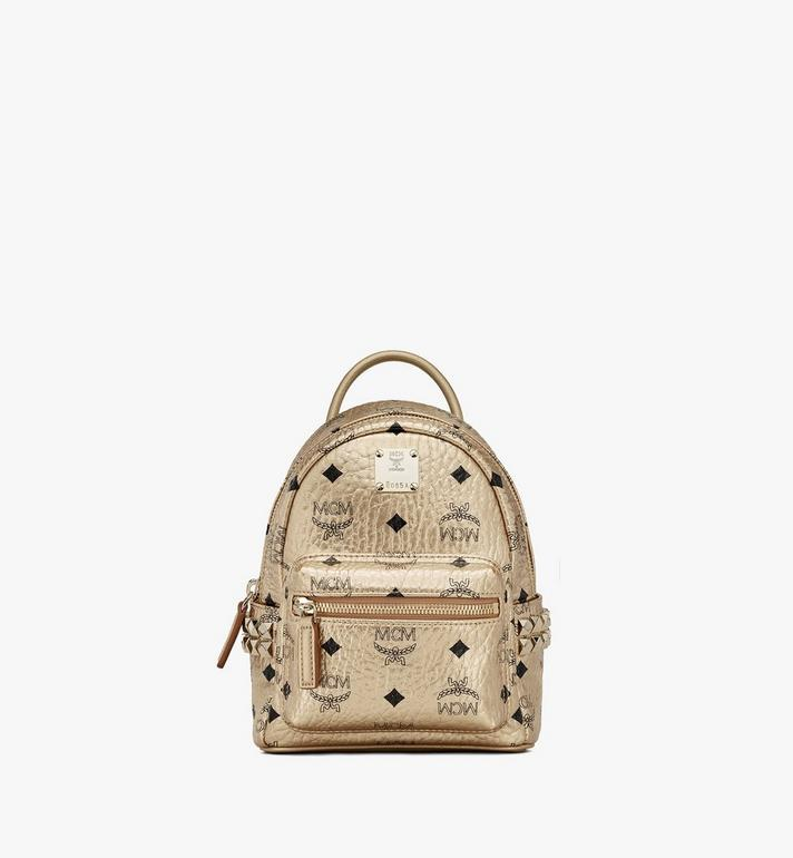 MCM Stark Bebe Boo Backpack in Visetos Gold MMK8AVE50T1001 Alternate View 1
