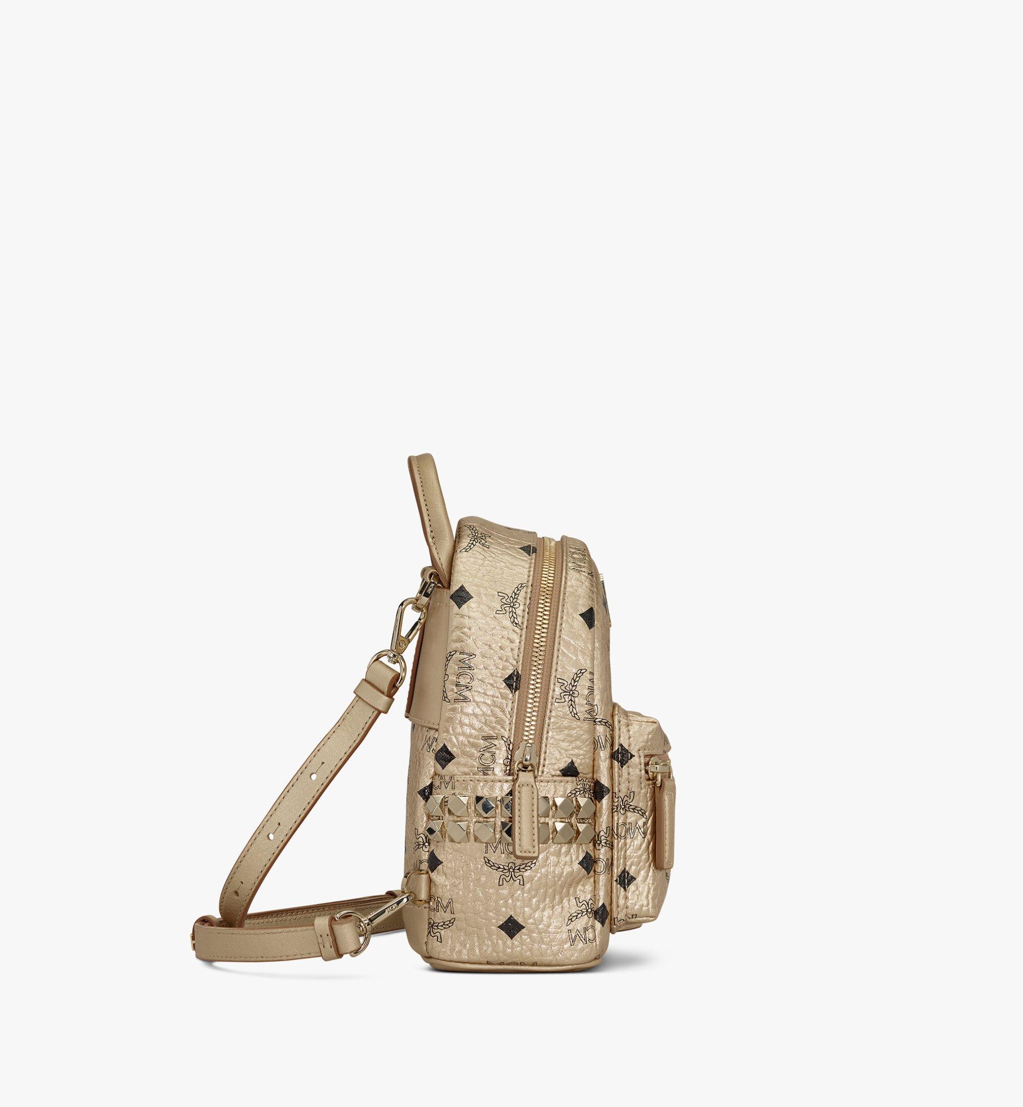 MCM Stark Bebe Boo Backpack in Visetos Gold MMK8AVE50T1001 Alternate View 2