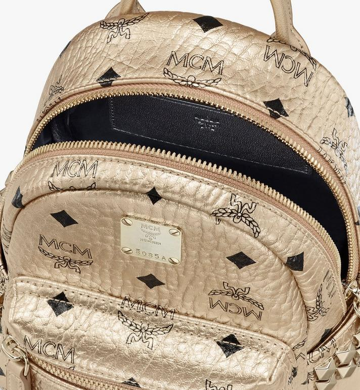 MCM Stark Bebe Boo Backpack in Visetos Gold MMK8AVE50T1001 Alternate View 4