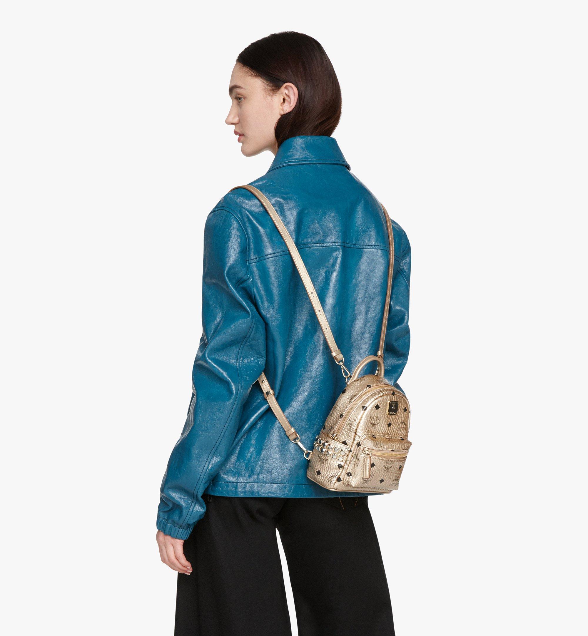 MCM Stark Bebe Boo Backpack in Visetos Gold MMK8AVE50T1001 Alternate View 5
